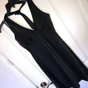 BCBGMaxAzria Black Halter Mini Dress
